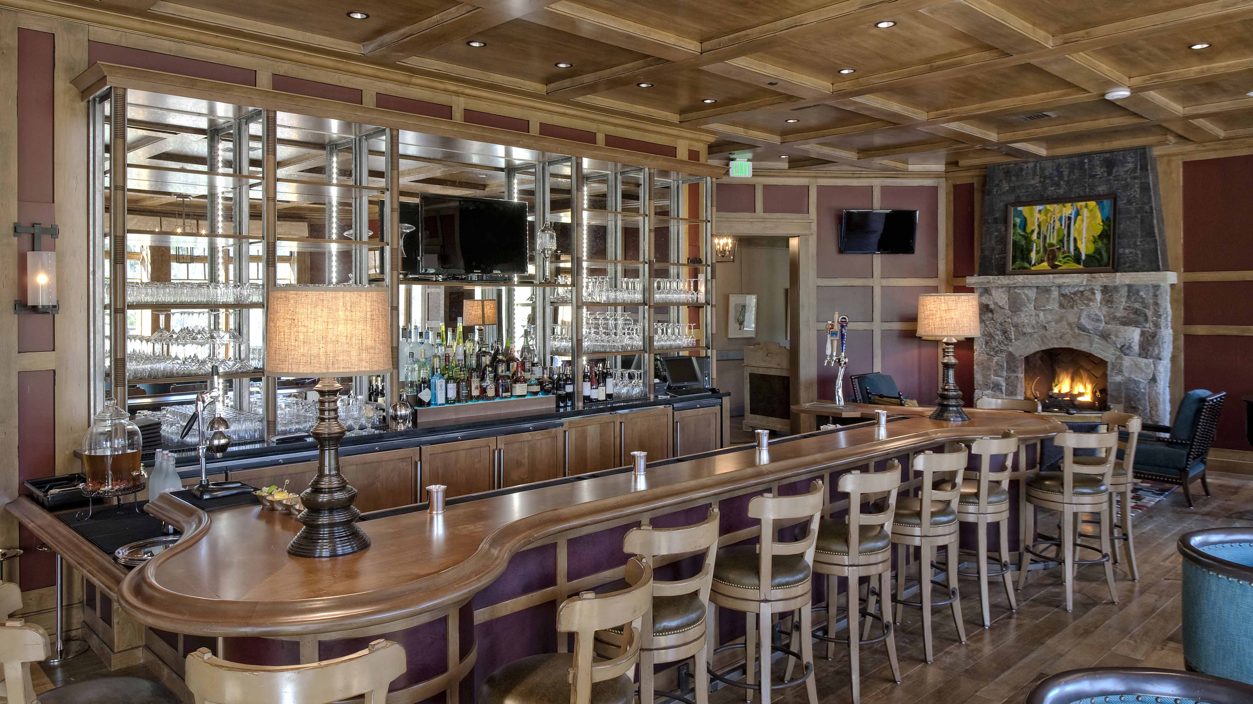 Martis Camp Lodge Golf Clubhouseinteriors Of Bar And Casual Dining